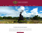 The UPOU OUR home page